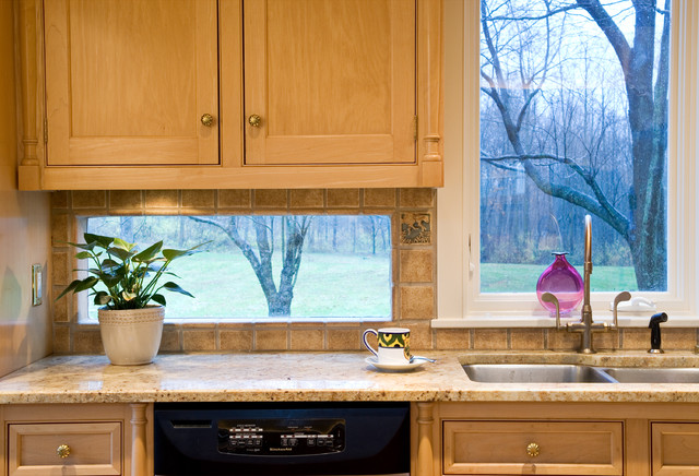 Kitchen Backsplash By Window jimmy crisp - traditional - kitchen - new york -crisp architects