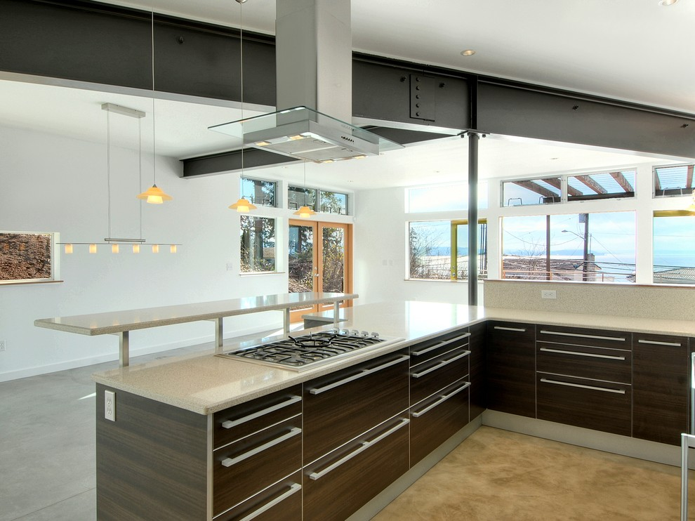 Inspiration for a contemporary kitchen remodel in Seattle