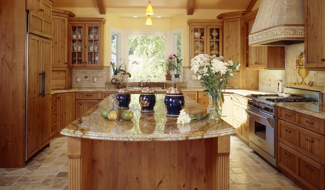 Juparana Persia Granite Countertops Traditional