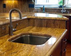 Juperana Copper Granite Kitchen traditional-kitchen