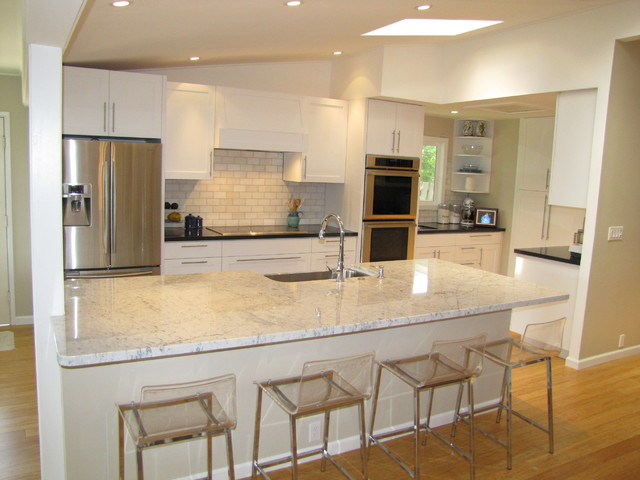 Kailua Home Remodel Pre Tile Floor Gray Island Paint Transitional Kitchen Hawaii By