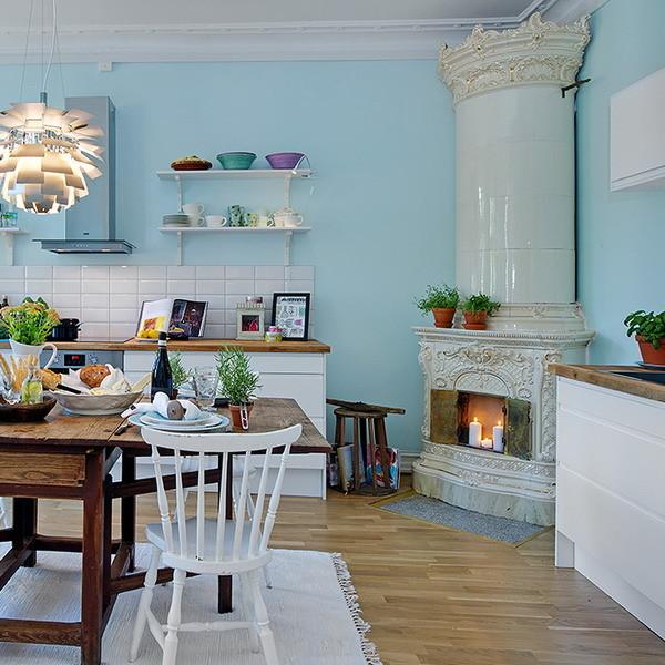 Traditional Swedish Tiled Stove