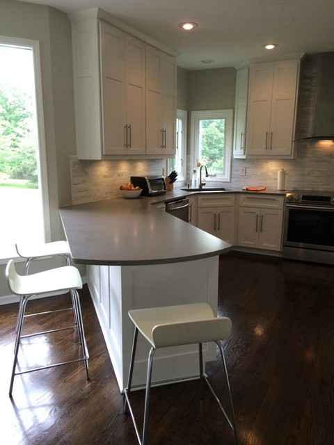 Kansas City White Shaker Kitchen Remodel Craftsman