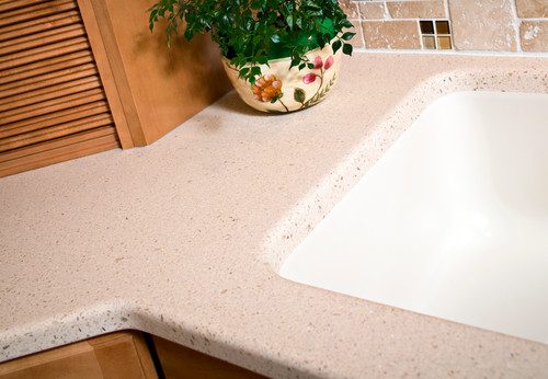 Is This Counter EOS Solid Surface Sandbridge? Looks Great!