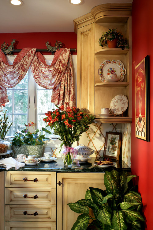 Where can i purchase the rooster curtain rods and window treatments - French country kitchen curtains ...