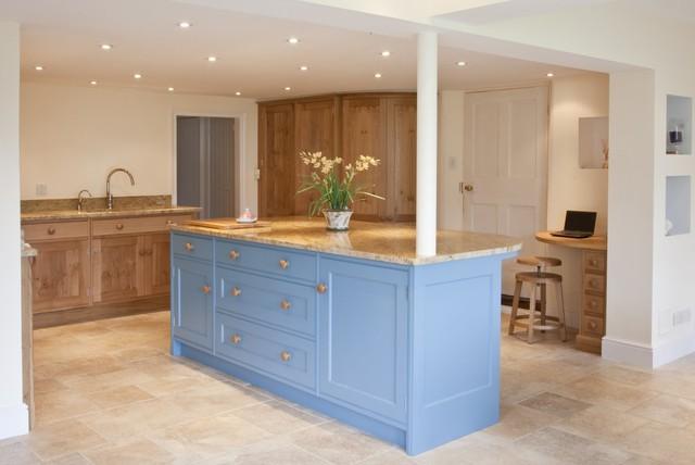 Kashmir Gold Granite Worktops Traditional Kitchen East Anglia By Ivett Reed Ltd