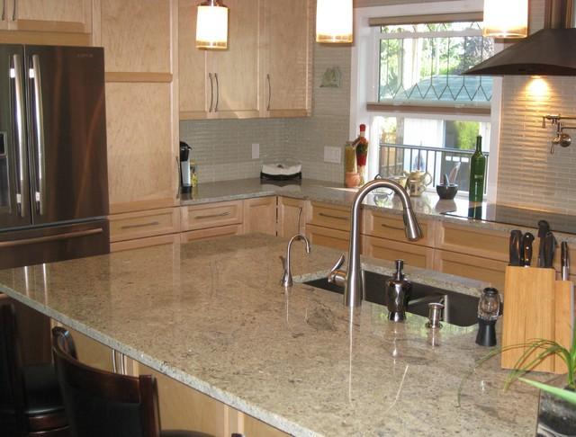 Wonderful Kashmir White Granite (2) Kitchen
