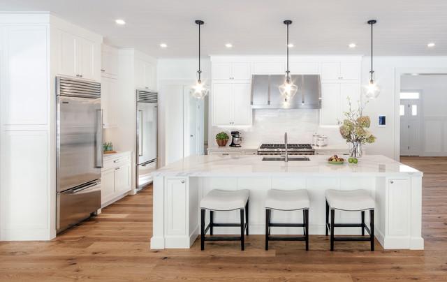 Kathleen S Medallion Inset Santa Cruz White Kitchen