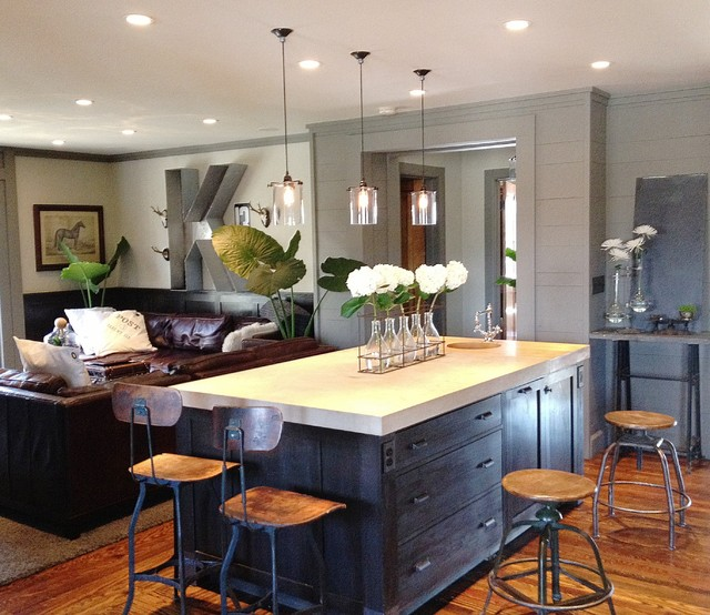 Keegan kitchen family room contemporary kitchen other metro by emily winters Modern kitchen design ideas houzz