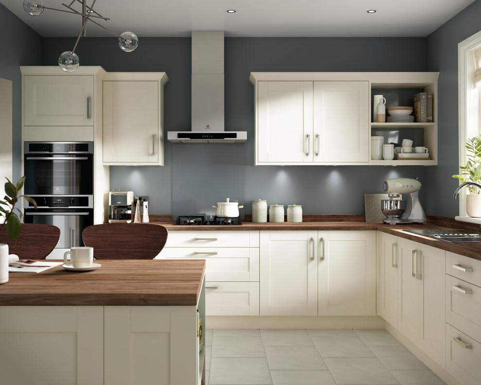 Kendal Cream Walnut Kitchen - Traditional - Kitchen ...