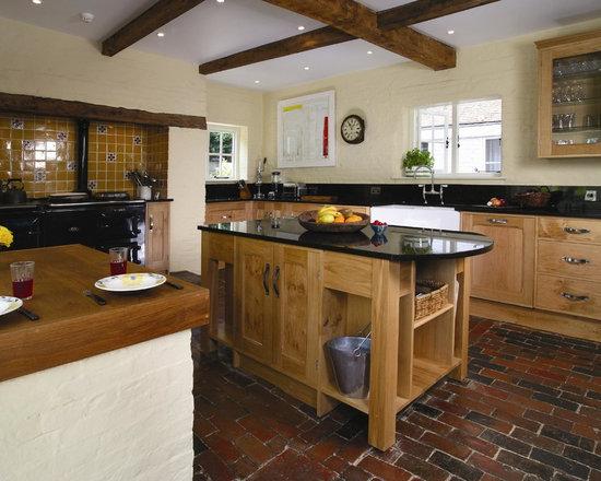 rustic brick kitchen counters - photo #31