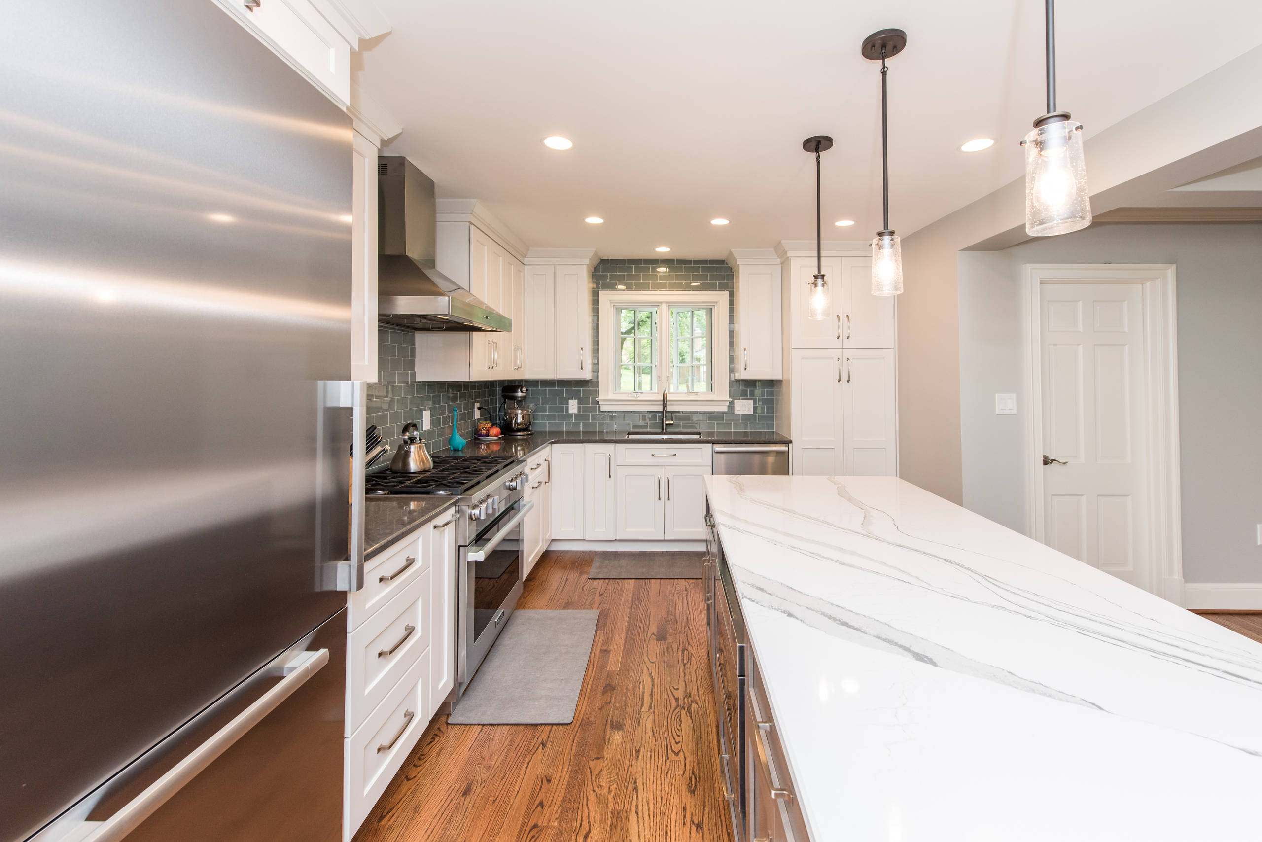 Kensington, MD Eclectic Kitchen and Bath Remodel