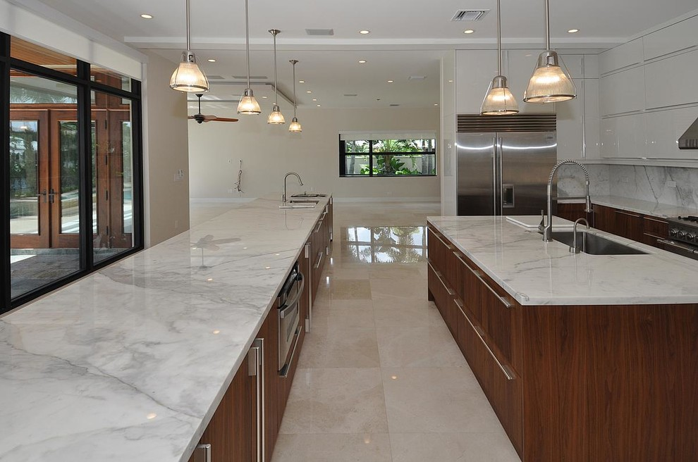 Inspiration for a contemporary kitchen remodel in Miami