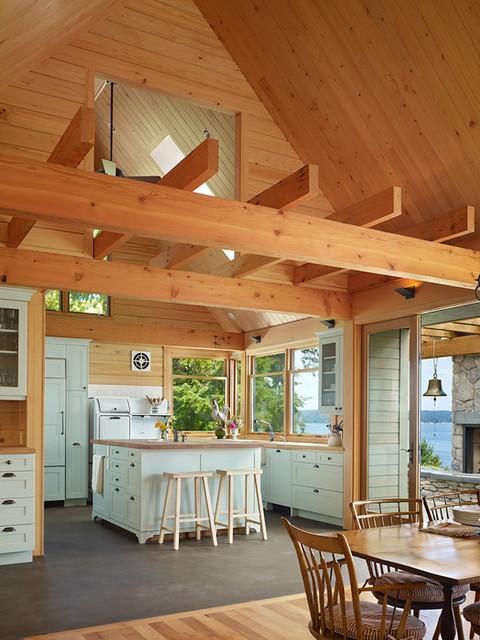 Key Peninsula Residence rustic-kitchen