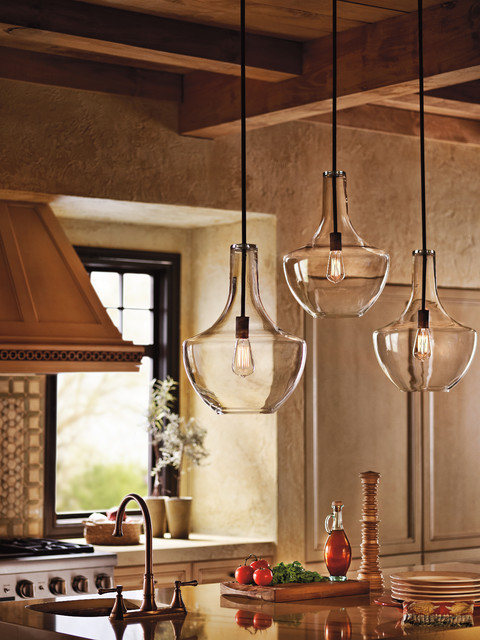 Kichler lighting 42046oz everly olde bronze pendant farmhouse kitchen