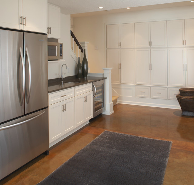 kid friendly basement kitchenette contemporary kitchen