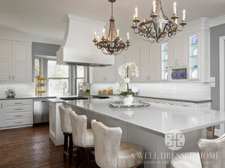 King Kitchen - Shabby-chic Style - Kitchen - Dallas - by A Well Dressed Home
