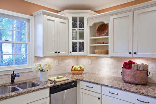 Crown molding on cabinets