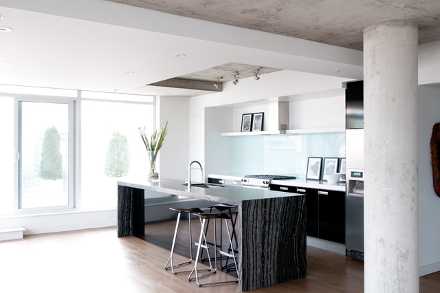King West Condo Residence Modern Kitchen