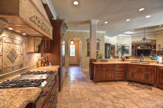 Kings lake custom home mediterranean kitchen other for Mediterranean house interior design
