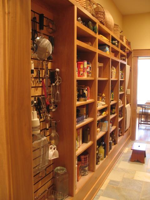 kinney walk thru pantry american craftsman k che. Black Bedroom Furniture Sets. Home Design Ideas