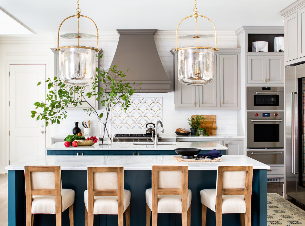 Inspiration for a transitional kitchen remodel in Atlanta