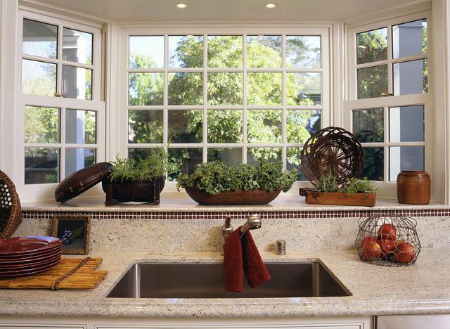 Kitchen Bay Window Herbs