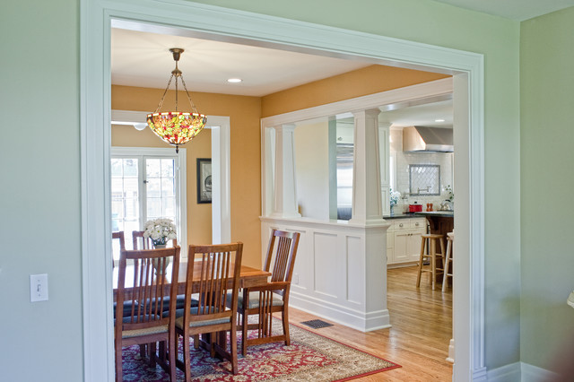 Kitchen Addition to Colonial Revival Home - traditional - kitchen