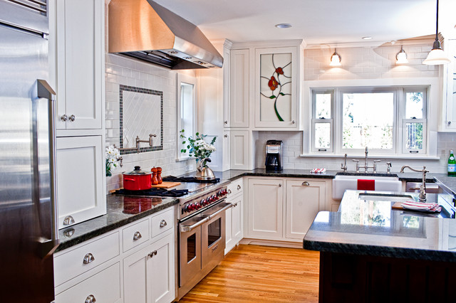 Kitchen addition to colonial revival home traditional for Colonial revival kitchen design