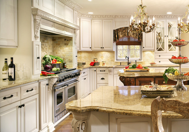 Kitchen Addition with Two Large Islands and Built-ins traditional-kitchen