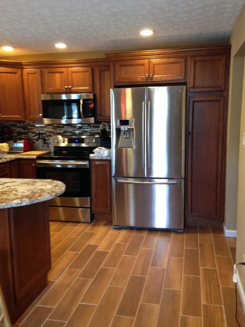 Kitchen After Ceramic Tile That Looks Like Wood