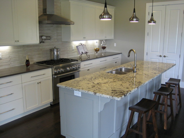 alaska white granite slab with dark cabinets kitchen traditional alaskan counter