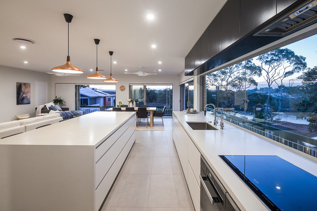 Kitchen contemporary kitchen sydney by ambient for Kitchen companies sydney