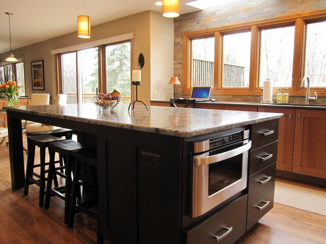 Kitchen and Bar Remodel Meets Style and Storage Needs contemporary-kitchen