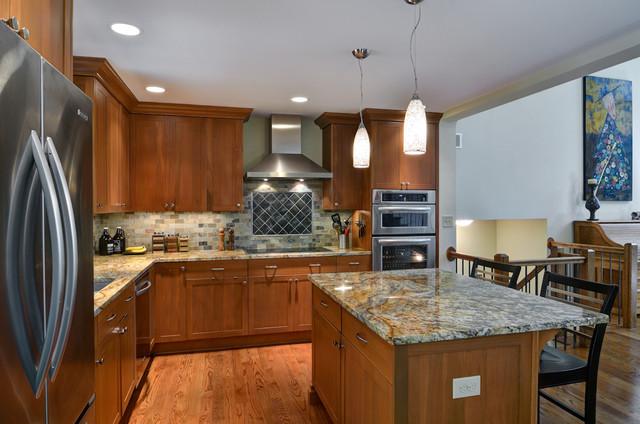 Kitchen & Basement with Loft eclectic-kitchen