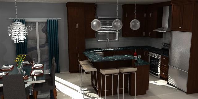 kitchen and bathroom design contemporary-kitchen