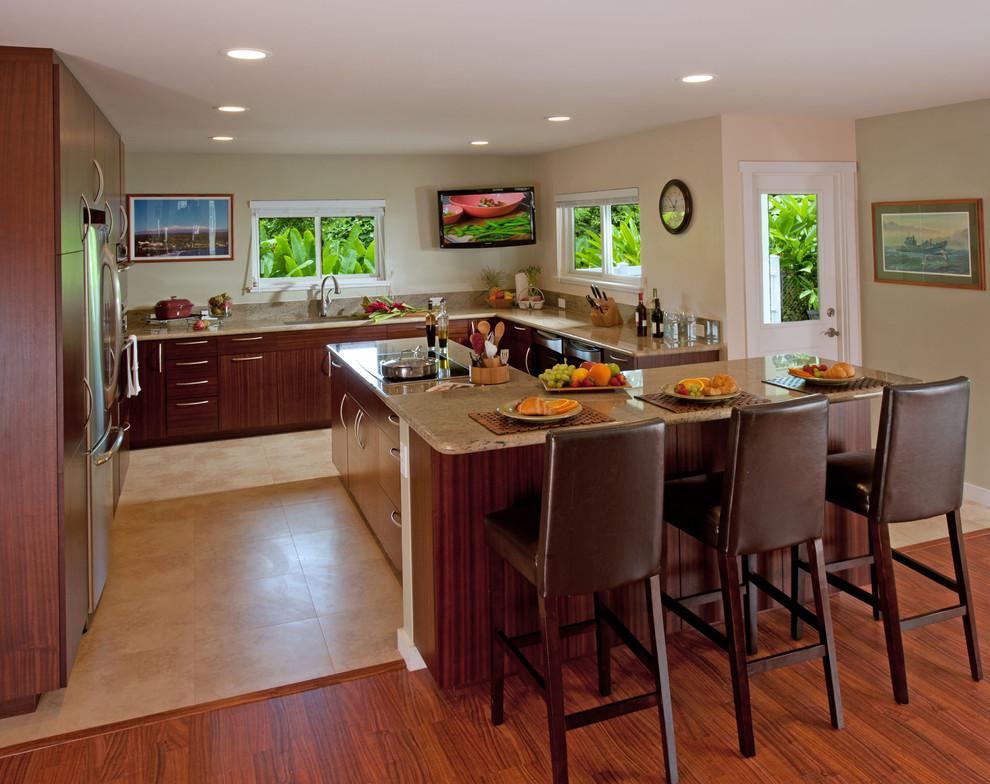 Kitchen & Bathroom Remodel Hawaii - Tropical - Kitchen ...