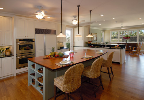 transitional-kitchen 15 Beautiful Wicker Furniture Design Inspirations