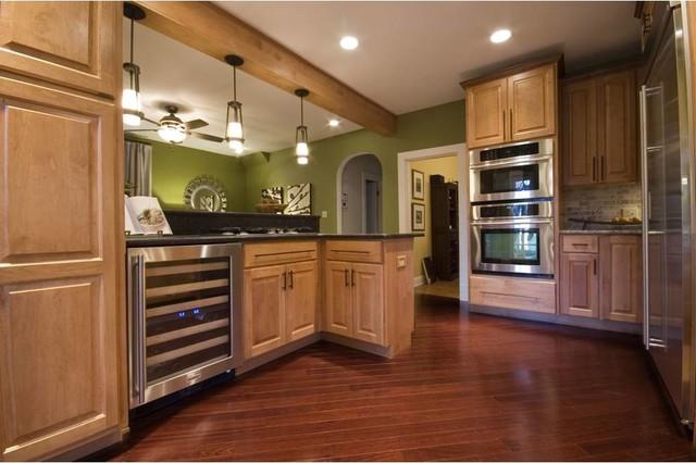 Kitchen & Den Combo transitional-kitchen
