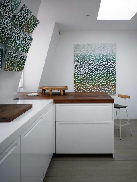 Kitchen and Dining Table - Modern - Kitchen - London - by David Churchill - Architectural ...