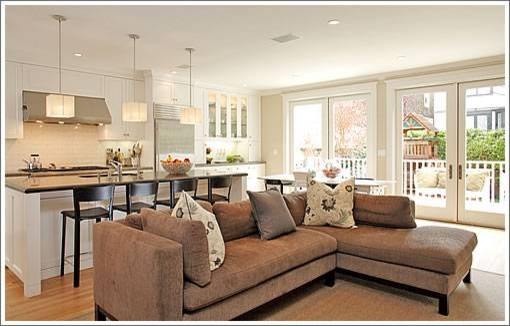 Kitchen And Family Room Traditional