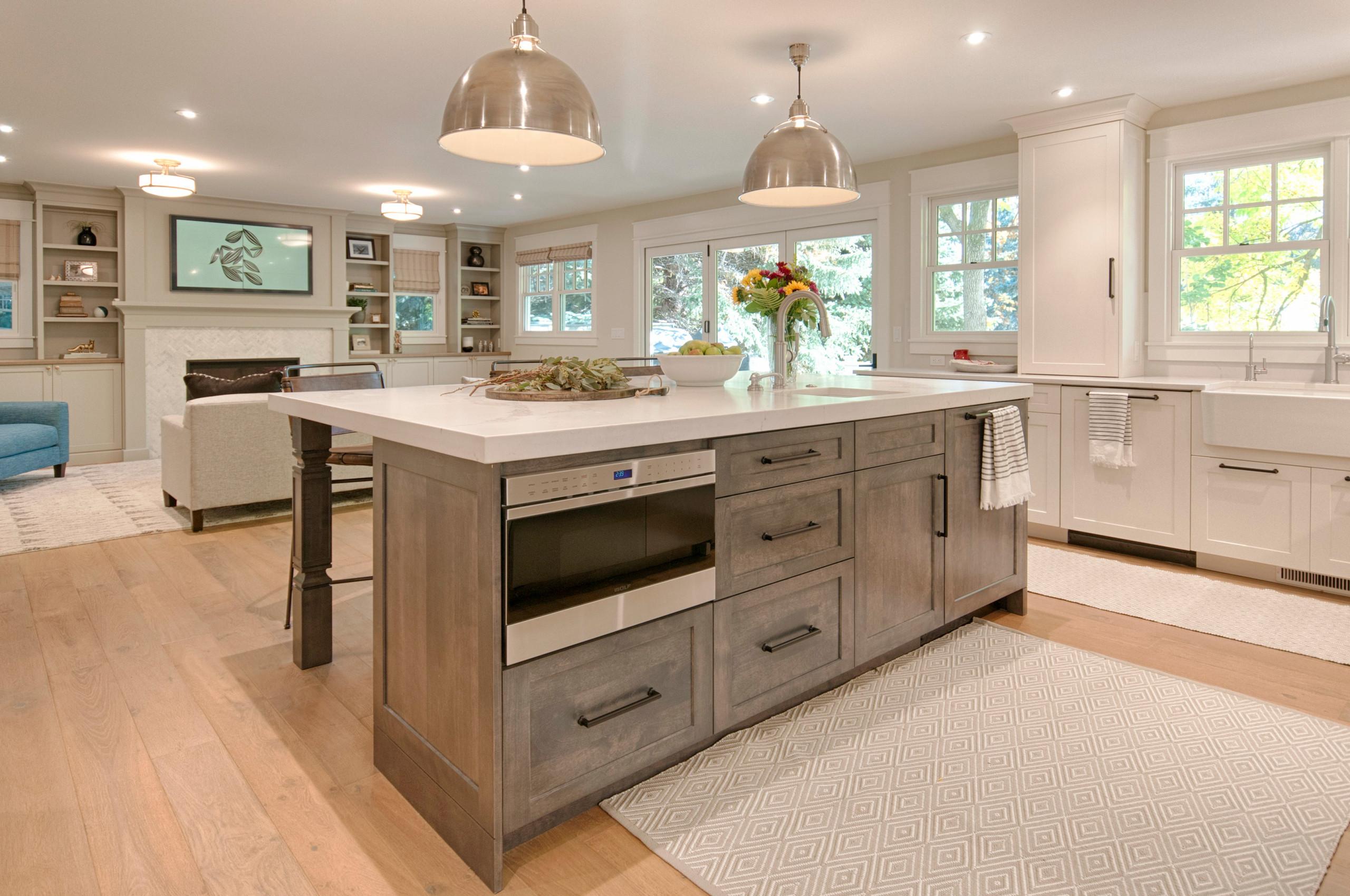 Kitchen & Living Room - After