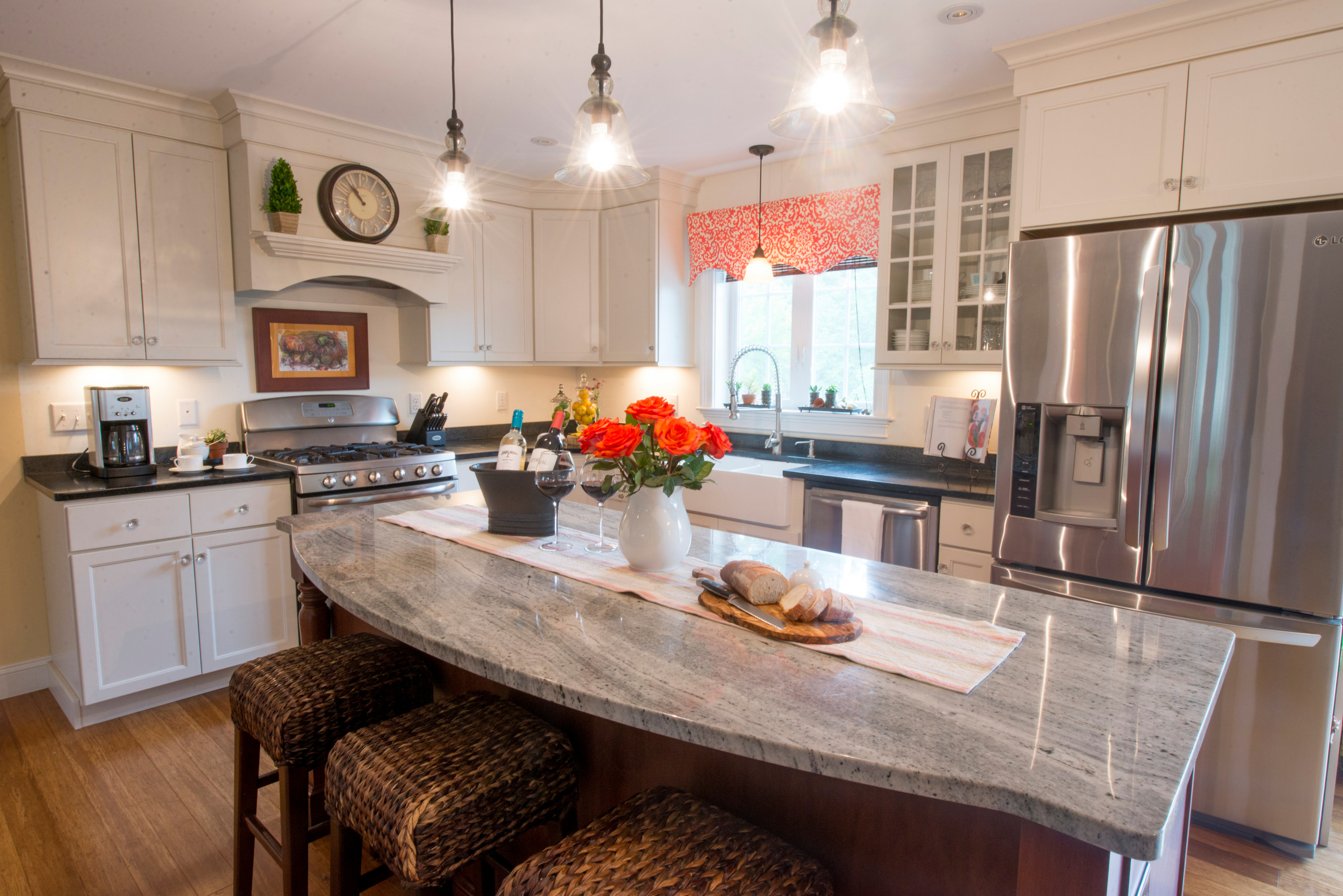 Kitchen and Living room Design - Dover, NH