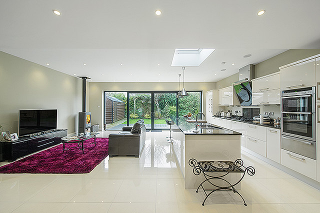 kitchen and living space extension