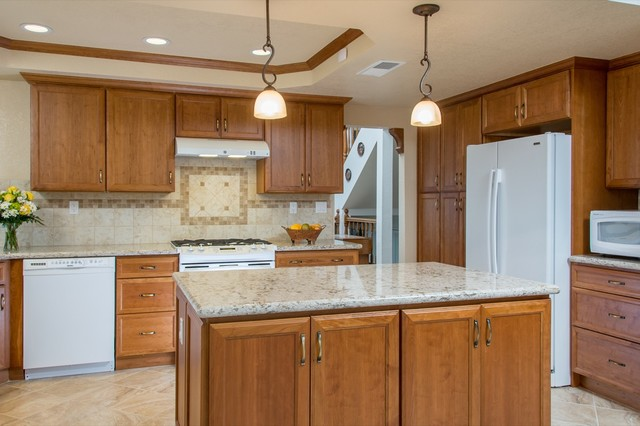 Kitchen And Master Bathroom Remodel Job In Escondido Ca Traditional Kit