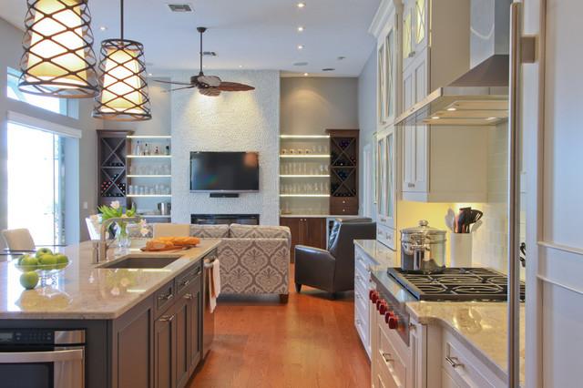 Bonita Bay, Bonita Springs Florida Kitchen Remodel transitional-kitchen