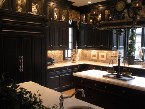 Colored kitchen cabinets - Black kitchen cabinets are a favorite