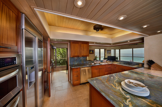 Kitchen tropical kitchen hawaii by architectural design construction - Tropical kitchen design ...