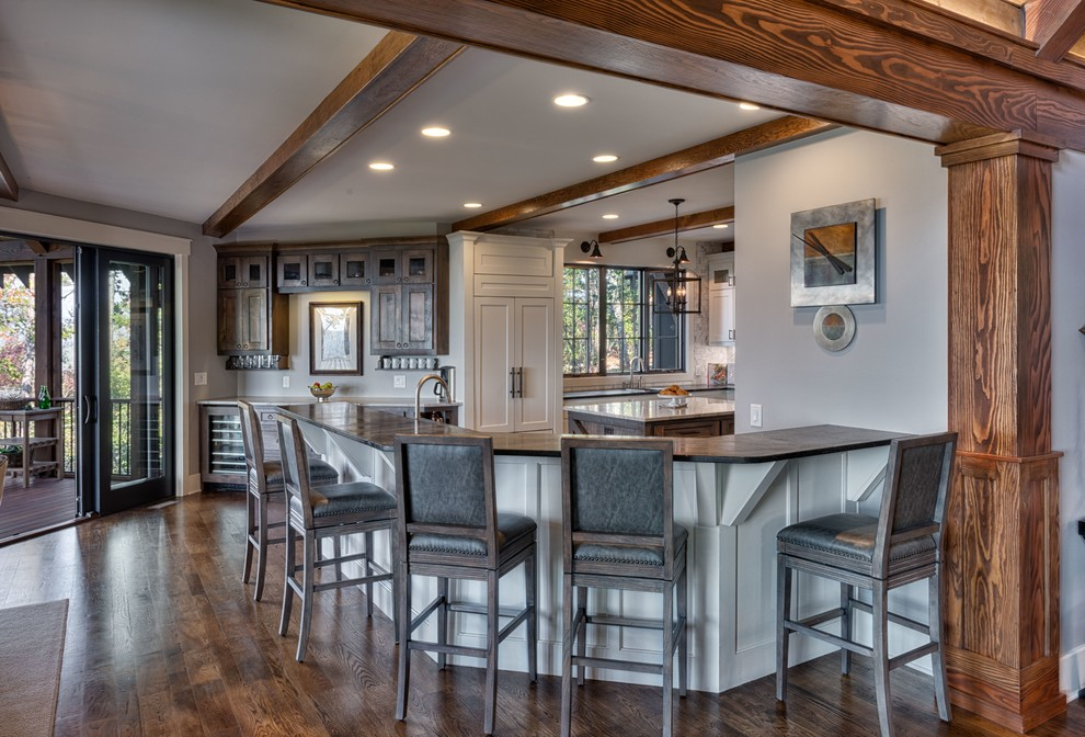 Mountain style kitchen photo in Other