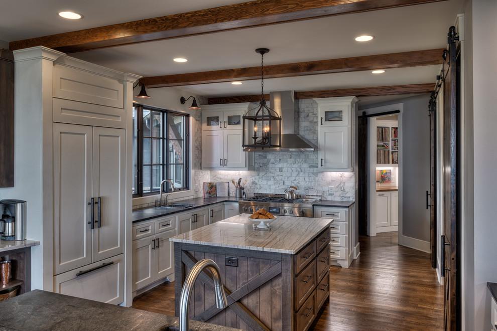 Kitchen - rustic kitchen idea in Other